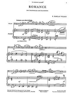 Wilson, B Romance Vlc/Pf Buch | Cello, Klavierbegleitung