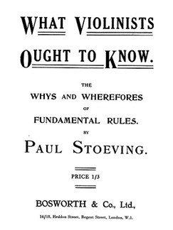 What Violinists Ought To Know Books | Violin