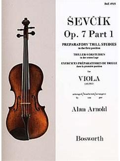 Sevcik Viola Studies Op.7 Part 1: Preparatory Trill Studies Books | Viola