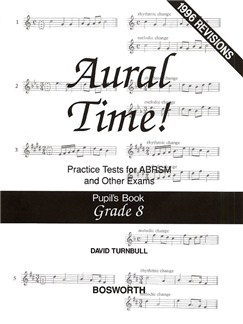 David Turnbull: Aural Time! Practice Tests - Grade 8 (Pupil's Book) Books | Voice, Piano Accompaniment