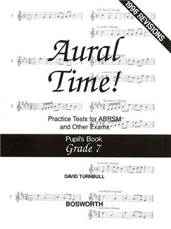 David Turnbull: Aural Time! Practice Tests - Grade 7 (Pupil's Book) Books | Voice, Piano Accompaniment
