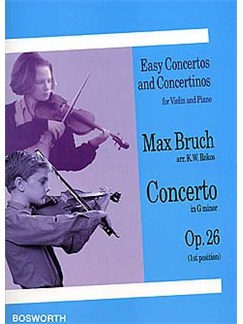 Max Bruch (Arr. K.W. Rokos): Concerto in G Minor For Violin And Piano Op.26 Livre | Violon, Accompagnement Piano