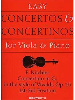 Ferdinand Kuchler: Concertino in G Op.15 (Viola/Piano) Livre | Viola, Accompagnement Piano