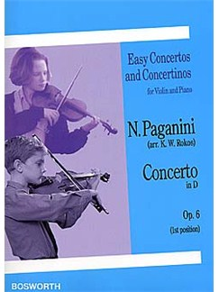 Niccolo Paganini: Violin Concerto in D Op.6 (1st Position) Books | Violin, Piano