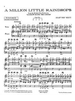Scott, B^a Million Little Raindrops^ Vce/Pf Buch   Gesang, Klavierbegleitung