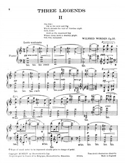 Worden, W^three Legends Op.33/2^pf Buch   Klavier