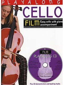 Playalong Cello: Film Tunes CD et Livre | Violoncelle, Accompagnement Piano
