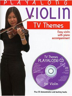Playalong Violin: TV Themes Books and CDs | Violin, Piano Accompaniment