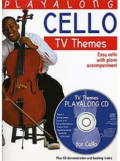 Playalong Cello: TV Themes Books and CDs | Cello, Piano Accompaniment