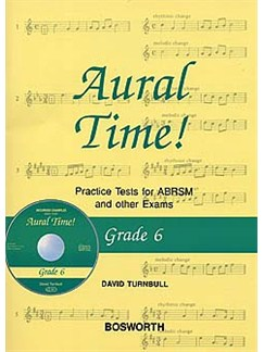 David Turnbull: Aural Time! Practice Tests - Grade 6 (Book/CD) Books and CDs | Voice, Piano Accompaniment