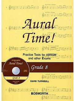 David Turnbull: Aural Time! Practice Tests - Grade 8 (Book/CD) Books and CDs | Voice, Piano Accompaniment