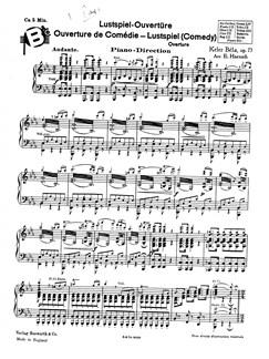 Bela, K Comedy Overture (Haensch) Orch Pf Sc/Pts Buch | Orchester