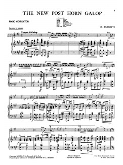 Barsotti, R The New Post Horn Galop Orch Pf Sc/Pts Buch | Orchester