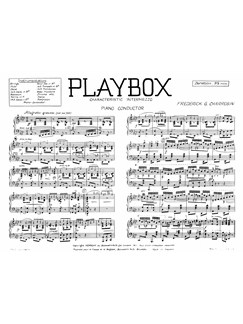 Charrosin, Fg Playbox Orch Pf Sc/Pts Buch | Orchester