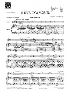 Engleman, J Reve D'amour Orch Pf Sc/Pts Buch | Orchester
