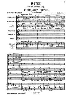 Palestrina, G Thou Art Peter Motets Bridge Ssattb  |