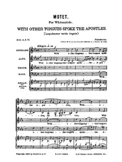 Palestrina, G Motets With Other Tongues Satb  |