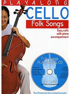 Playalong Cello - Folk Tunes Buch und CD | Cello, Klavierbegleitung