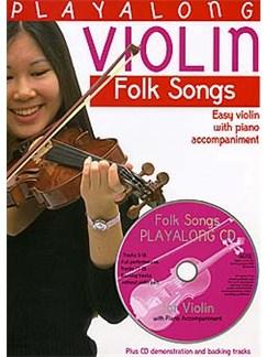 Playalong Violin: Folk Songs Books and CDs | Violin, Piano Accompaniment