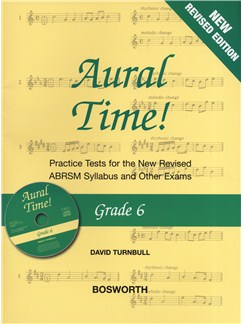 David Turnbull: Aural Time! - Grade 6 Book/CD (ABRSM Syllabus From 2011) Books and CDs | Voice, Piano Accompaniment