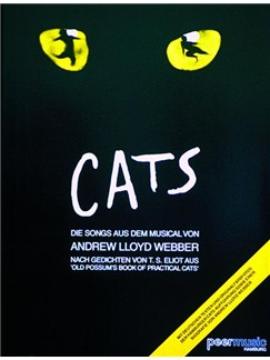 Cats: Die Songs Aus Dem Musical Libro | Piano, Voz y Guitarra