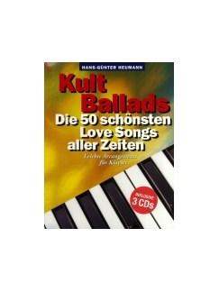 Hans-Günter Heumann: Kult Ballads - Die 50 Schönsten Love Songs Aller Zeiten (Buch/3 MP3-CDs) Books and CDs   Piano