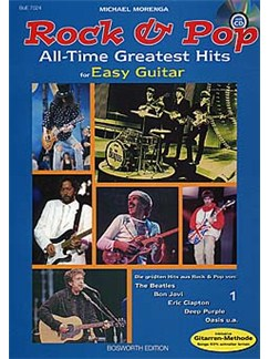 Rock And Pop All Time Greatest Hits For Easy Guitar Books and CDs | Guitar