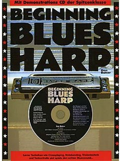 Beginning Blues Harp (German Edition) Books and CDs | Harmonica