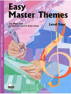 Schaum: Easy Master Themes - Level 4 Books   Piano