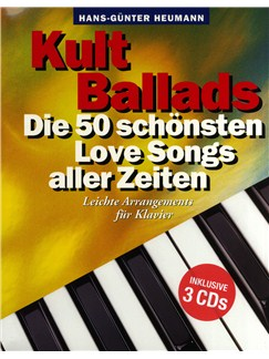 Hans-Günter Heumann: Kult Ballads - Die 50 Schönsten Love Songs Aller Zeiten (Book/3 CDs) Books and CDs | Piano