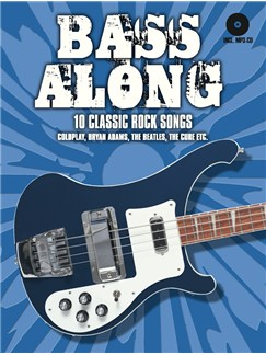 Bass Along - 10 Classic Rock Songs Books and CDs | Bass Guitar, Bass Guitar Tab