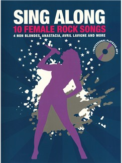 Sing Along - 10 Female Rocks Songs Books and CDs | Melody Line, Lyrics & Chords