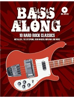 Bass Along - 10 Hard Rock Classics Books and CDs | Bass Guitar, Bass Guitar Tab