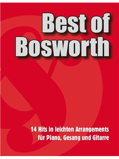 Best Of Bosworth Songbook Books | Piano, Vocal & Guitar