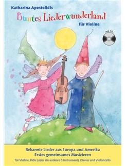 Buntes Liederwunderland - Band 2 (Book/CD) Buch und CD | Violine, Querflöte, Cello, Klavier-Kammermusik