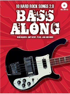 Bass Along - 10 Hard Rock Songs 2.0 (Book/CD) Books and CDs | Bass Guitar