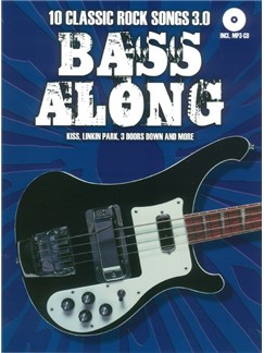 Bass Along: 10 Classic Rock Songs 3.0 (Book/CD) Books and CDs | Bass Guitar