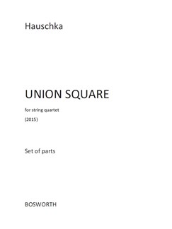 Hauschka: Union Square (Parts) Books | String Quartet