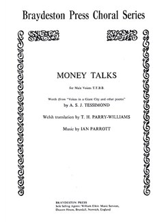 Ian Parrott: Money Talks Books | TTBB, Piano Accompaniment