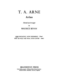 T.A. Arne: How Engaging, How Endearing Books | Tenor, Piano Accompaniment