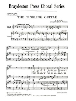 T.A. Arne: The Tinkling Guitar Books | Unison Voice, Piano Accompaniment