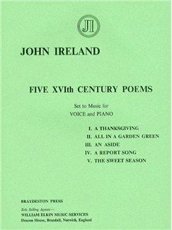 John Ireland: Five Sixteenth Century Poems Books | Voice, Piano Accompaniment