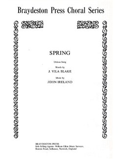 John Ireland: Spring Books | Unison Voice, Piano Accompaniment