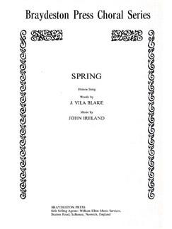 John Ireland: Spring Libro | Voz al Unísono, Acompañamiento de Piano