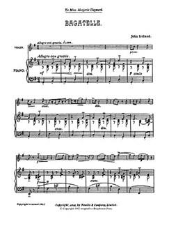 John Ireland: Bagatelle Books | Violin, Piano Accompaniment