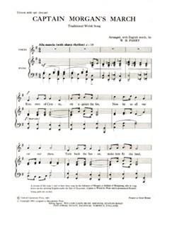 Captain Morgan's March Books | Unison Voice, Piano Accompaniment