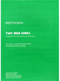 Beethoven: Two Irish Songs Books | Voice, Piano Accompaniment