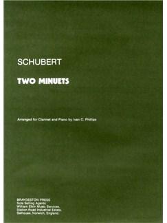 Franz Schubert: Two Minuets Books | Clarinet, Piano Accompaniment