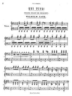 Wilhelm Ganz: Qui Vive Bog | Klaverduet
