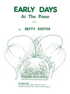 Betty: Reeves Early Days At The Piano Books | Piano